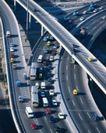 中国名胜0164,中国名胜,世界风光,高速  车来车往  秩序