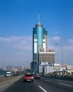 中国名胜0166,中国名胜,世界风光,桥上 高楼大厦  路灯