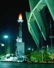中国名胜0171,中国名胜,世界风光,火炬台 国旗桅杆 雕塑群