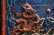 中国雕刻0043,中国雕刻,中华图片,墙壁 龙群 尾巴