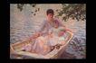 欧洲名画0038,欧洲名画,艺术,木船 舟子 乘客