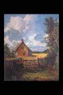 欧洲名画0051,欧洲名画,艺术,乡村 村舍 栅栏