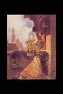 欧洲名画0068,欧洲名画,艺术,凉台 屋檐 观景