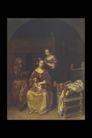 人物油画0061,人物油画,艺术,梳头 整理 容貌