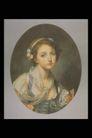 人物油画0062,人物油画,艺术,少女 椭圆 肖像