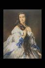 人物油画0065,人物油画,艺术,侧视 含羞 长发