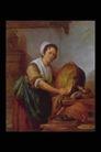 人物油画0107,人物油画,艺术,白帽 大筐 抹布