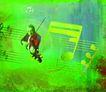 音乐幻想0007,音乐幻想,艺术,男人 拉小提琴 琴声 悠扬 五线谱
