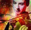 音乐幻想0014,音乐幻想,艺术,小提琴手 专注 面部 表情 韵律