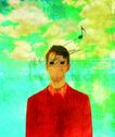 音乐幻想0040,音乐幻想,艺术,漫画 云朵 人物