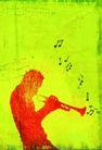 音乐幻想0044,音乐幻想,艺术,喇叭 乐器家 吹喇叭
