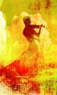 音乐幻想0050,音乐幻想,艺术,金色 小提琴 乐章