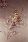 中华刺绣0007,中华刺绣,艺术,花丛 疯长 草叶 灰色 绸底
