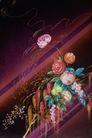 中华刺绣0013,中华刺绣,艺术,楼台 插发 垂枝 抱团 缤纷
