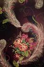 中华刺绣0017,中华刺绣,艺术,凤尾 形状 菊花 中下方 针织品