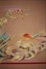 中华刺绣0018,中华刺绣,艺术,红日 日出 波浪 水面 水草