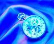 时间金钱0007,时间金钱,商业金融,怀表 蓝色 丝绸上