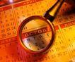 时间金钱0019,时间金钱,商业金融,日期 放大镜 定期