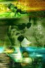 电子艺术0039,电子艺术,科技,打电话 戴着眼镜 奔跑