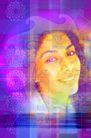 电子艺术0055,电子艺术,科技,笑容 头部 影像