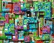 电子艺术0074,电子艺术,科技,彩色 板材 类型