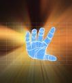 数字模型0041,数字模型,科技,三维手掌