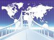 科技创意0062,科技创意,科技,桥梁 蓝天 板块