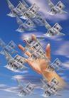 合成网络0054,合成网络,科技,手 翅膀 纸币