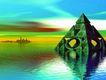 科幻世界0074,科幻世界,科技,水中央 绿色 金字塔
