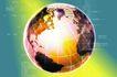 数字地球0065,数字地球,科技,星球 网格 分格