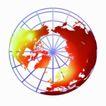 数字地球0077,数字地球,科技,北极 半球 俯视