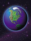 星球世界0125,星球世界,科技,地球 太空 宇宙 西半球 外发光