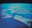 星球俯视0062,星球俯视,科技,蓝色 球体 大陆