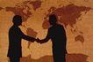 科技超想0027,科技超想,科技,握手 合作 地图