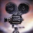 影视制作0103,影视制作,科技,放影机 盘片 白圆球背景