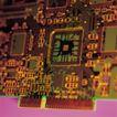 板卡芯片0173,板卡芯片,科技,发光集成电板 发光焊接点 复杂结构
