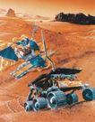 卫星科技0110,卫星科技,科技,火星车 圆柱滚轮 有齿