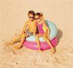 健康休闲0154,健康休闲,运动,沙滩 泳圈 玩伴