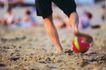 健康休闲0155,健康休闲,运动,踢球 沙子