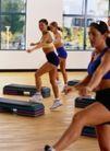 体育锻炼0151,体育锻炼,运动,女子健身 踏板 好身材