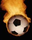 足球0174,足球,运动,黑白格子足球 带火燃烧 火势熊熊