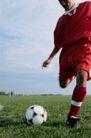 足球0175,足球,运动,男子足球 红运动衫 红长袜