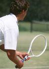 激情网球0054,激情网球,运动,白色球服 侧身 准备姿势