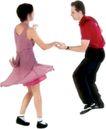 群体舞蹈0075,群体舞蹈,运动,舞角 牵手 舞步