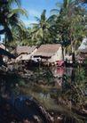 越南老挝柬埔寨0121,越南老挝柬埔寨,世界风光,亚洲风光 茅屋 亚热带 简陋 平屋