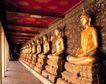 越南老挝柬埔寨0126,越南老挝柬埔寨,世界风光,寺 院内 神像 金佛 祭拜