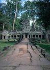 越南老挝柬埔寨0127,越南老挝柬埔寨,世界风光,古院 院子 古树 记载 见证历史