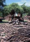 越南老挝柬埔寨0171,越南老挝柬埔寨,世界风光,特色雕塑 砖块底座 石头塑像