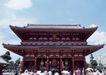 越南老挝柬埔寨0174,越南老挝柬埔寨,世界风光,著名寺庙 人潮 大红柱子