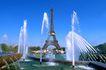 法国巴黎0247,法国巴黎,世界风光,喷泉 铁塔 壮观